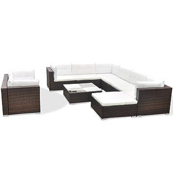 vidaXL 32tlg. Poly Rattan Gartenmöbel Set Garten Sofa Lounge Sitzgruppe Gartengarnitur