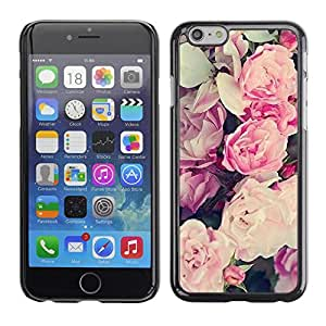 Omega Covers - Snap on Hard Back Case Cover Shell FOR Iphone 6/6S (4.7 INCH) - Pink Summer Spring Flowers Petals