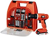Black & Decker BDC120VA100 20-Volt MAX Lithium-Ion Drill Kit with 100 Accessories