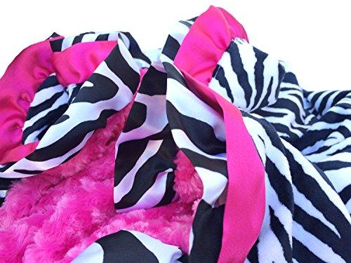 Pink Zebra Baby Blanket front-171271
