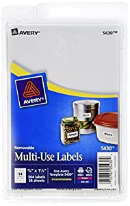 Multi use labels 75x1 5 all purpose for Avery template 5418