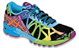 ASICS Womens Gel-Noosa Tri 9 Running Shoe,Black/Neon Coral/Green,8 M US
