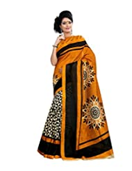 Anu Designer Self Print Saree (6406A_Multi-Coloured)