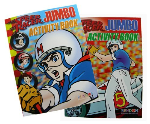 Speed Racer Jumbo Activity Book - Racing Jumbo Coloring Activity Book - 1