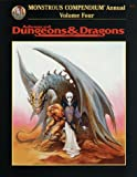 Monstrous Compendium Annual, Vol. 4 (Advanced Dungeons & Dragons Accessory, No. 2173)