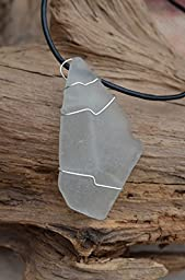 Frosted White Sea Glass Necklace