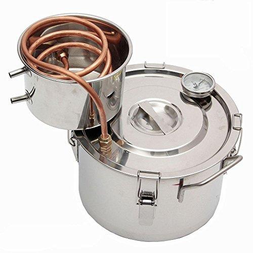 Seeutek® DIY 2 Gal Water Alcohol Wine Distiller Moonshine Still Stainless Boiler 8L