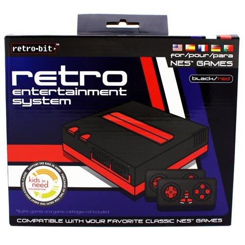NES Retro Entertainment System(Black/Red)