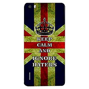 Skin4gadgets Keep Calm and IGNORE HATERS - Colour -UK Flag Phone Skin for HUAWEI HONOR 6