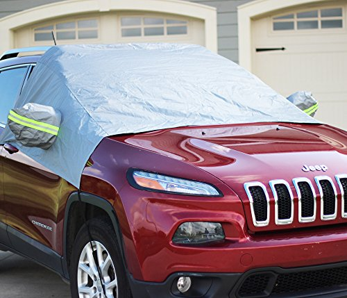 Premium Windshield Snow Cover - Ultra Durable Weatherproof Design - Protects Windshield, Wipers, and Mirrors - (2016 Model) (Windshield Ice Cover compare prices)