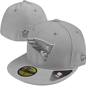 New England Patriots New Era NFL Pop Gray Basic 5950 Fitted Hat 7 3 8 by New Era