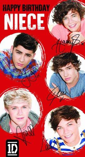 One Direction Niece Birthday Greeting Card
