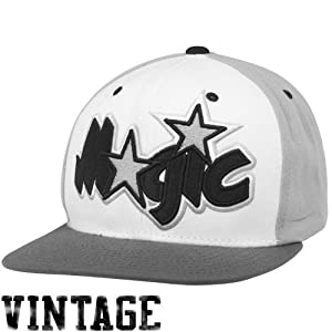 NBA Mitchell & Ness Orlando Magic Greytones Snapback Adjustable Hat by Mitchell & Ness