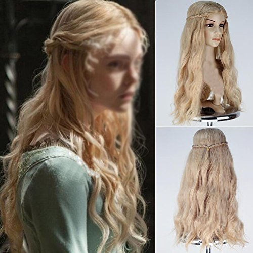 SHINING Sleeping Beauty Aurora Princess Costume Wig