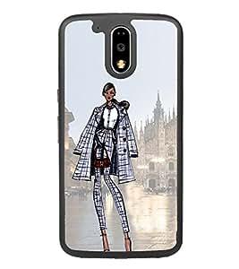 Smart Dressed Women 2D Hard Polycarbonate Designer Back Case Cover for Motorola Moto G4