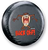 """Taz """" Back Off!""""  Spare Tire Cover"""