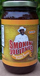 Spicy Bbq Sauce By Smokin Joe Jones 18-oz Net Wt Glass Twin Pack Jar Smokin Joe Added A Little Cayenne And Black Pepper To The Original Mild Barbecue Sauce Add To Ground Beef For A Tangy Hamburger Or Meatloaf No Msg 0 Cholesterol 0 Fats No Preservatives b