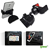 Ipow Universal 360°rotation CD Slot Car Mount Holder Cradle With Two-Sided Cradled For 5.5-8.5cm Smartphone and GPS Device for iPhone 6plus, 6, 5S, 5C, 5, 4S, 4, iPod touch, Samsung Galaxy S5, S4, Note, Note 2, Nexus S, HTC One X, S, Motorola Droid Razr HD, Maxx, Nokia Lumia 920, M7, LG Optimus G (For CD SLOT)