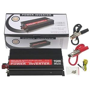 インバーター 1500W 瞬間最大3000W 車用DC12V→AC100V家庭用電源に変換