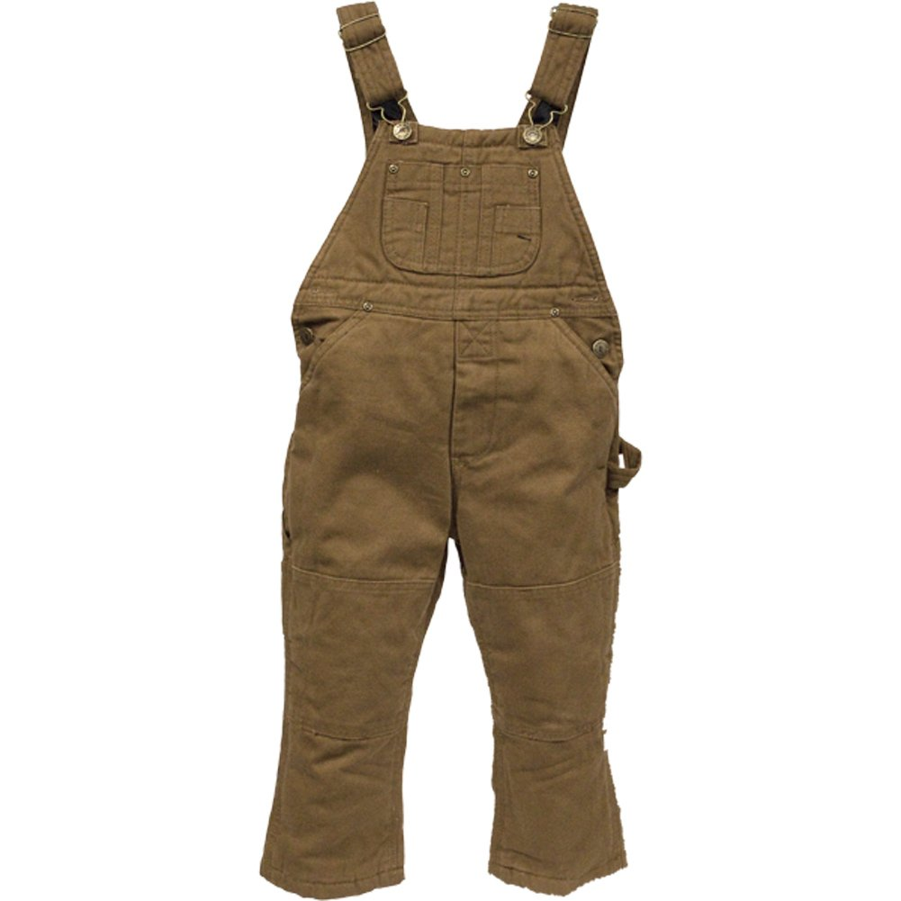 Polar King Toddler's Insulated Duck Bib Overall - Saddle Brown