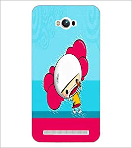 PrintDhaba Cartoon D-5866 Back Case Cover for ASUS ZENFONE MAX ZC550KL (Multi-Coloured)