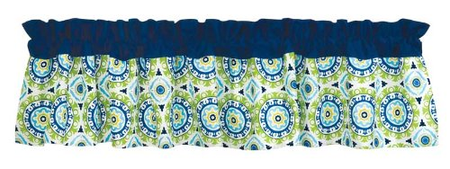 Trend Lab Waverly Solar Flair Window Valance, Blue/Green