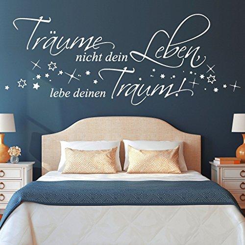 adesivo-parete-traume-nicht-dein-leben-lebe-deinen-traum-49-colori-e-3-dimensioni-35-x-92-cm-grigio-