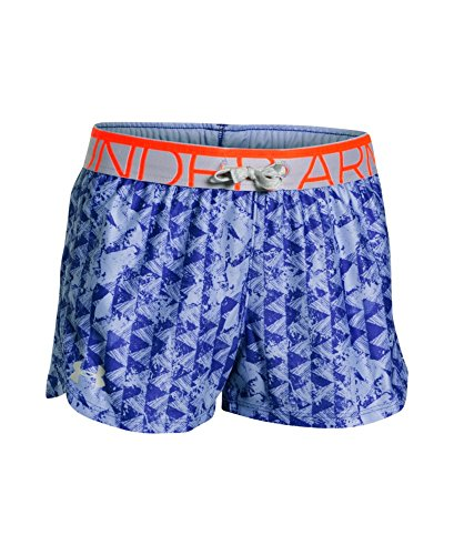 Under Armour Girls' Printed Play Up Shorts, Purple Ice (938), Youth X-Large