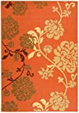 Safavieh Courtyard Collection CY4027C Terra Natural and Brown Area Rug, 8 feet by 11 foot (8' x 11')