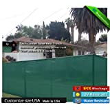 4' X 50' Privacy Screen w/ Brass Grommets Green (Custom Sizes Available)