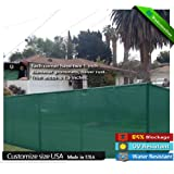 Fit for 4 Tall Fence 50 Long Green Privacy Screen & Windscreen & Fabric Mesh W/ Brass Grommets