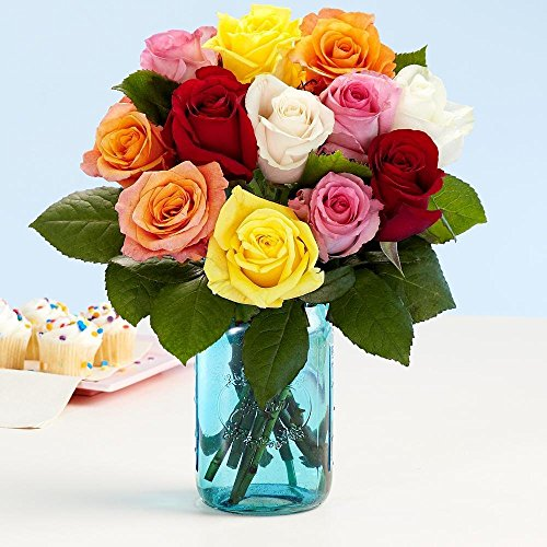 Same Day Flower Delivery of Birthday Roses Bouquet   Country Flowers Delivery