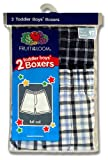 Fruit of the Loom Boys 2-7 Toddler Woven Boxer 2-Pack
