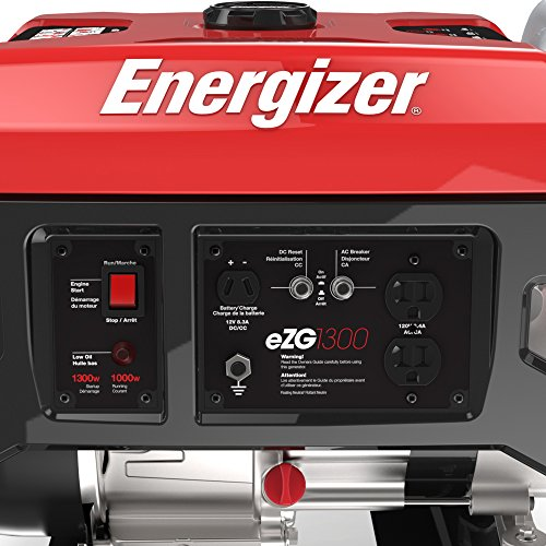 Energizer EZG1300 Portable Heavy Duty Power Generator, 1300-watt