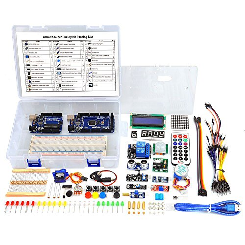 Osoyoo 2016 Complete Ultimate Starter Kit for Arduino with Mega2560 and UNO R3 Board Projects (34 items) (Arduino Programming Kit compare prices)