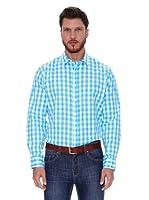 Spagnolo Camisa Rodas (Blanco / Azul)