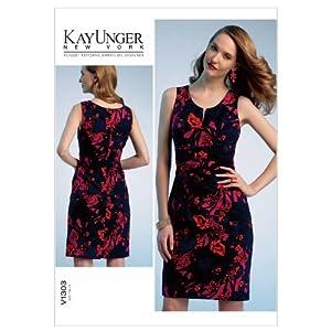 Vogue Patterns V1303 Misses Dress, Size F5 (16-18-20-22-24)