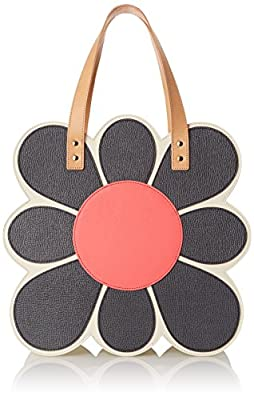 Orla Kiely Applique Flower Tote Shoulder Bag