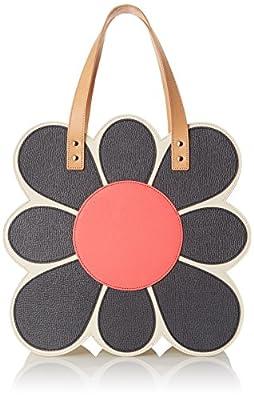 Orla Kiely Applique Flower Tote Shoulder Bag