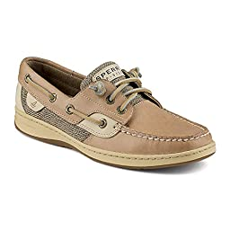 Sperry Top-Sider Women\'s Ivyfish Boat Shoe, Linen/Oat, 7 M US