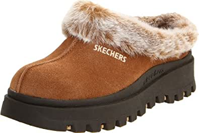Skechers USA Women's Fortress Clog,Chestnut,5M US