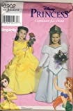 Simplicity 9902 Sewing Pattern Disney Princess Costumes for Girls Size A 3, 4, 5, 6, 7, 8