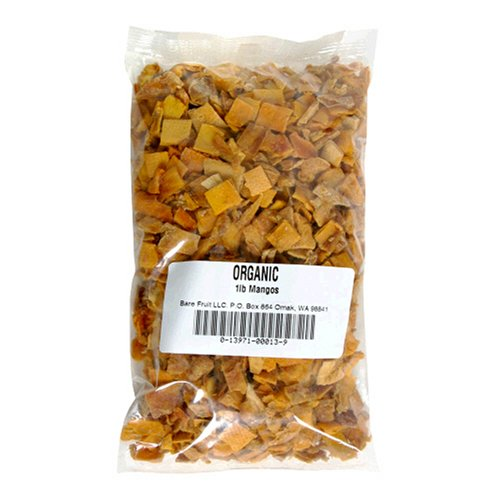 Bare Fruit 100% Organic Bake-Dried Mangos, 1 Pound Bags (Pack of 2)