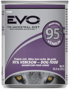 EVO 95% Venison Canned Dog Food - 12x13.2 oz