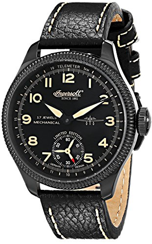 """Ingersoll Men'S In3105Bbko """"Chinook"""" Stainless Steel Mechanical Watch With Black Leather Band"""