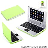 "Goldengulf 7"" Inch Latest Green 4.1 JellyBean Mini Android Computer Laptop NoteBook PC NetBook Wifi Best gift for Children"