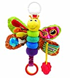 New Baby New Baby's Soft Plush Toy Hang Toy Rattle Crinkle Bell Lamaze Colored Butterfly