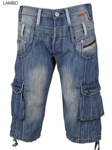 Mens Denim Jean/ Cargo Shorts 'LAMBO' by Crosshatch Nxt Gen Size 32