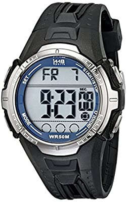 Timex Men's T5K680 1440 Digital Sports Watch with Black Band by Timex