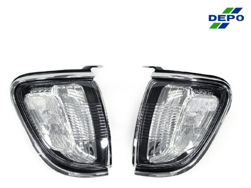 A Pair Of Depo Toric Clear Lense Corner Signal Light - Toyota Tacoma 2001-2004